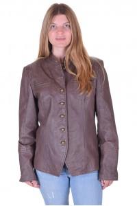 Спретнато дамско кожено яке