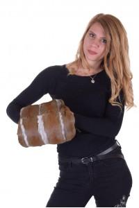 Дамска чанта от естествен косъм
