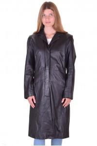 Елегантен дамски кожен шлифер