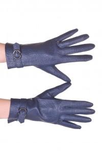 Тъмно сини ръкавици от изкуствена кожа