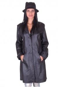 Класически дамски кожен шлифер